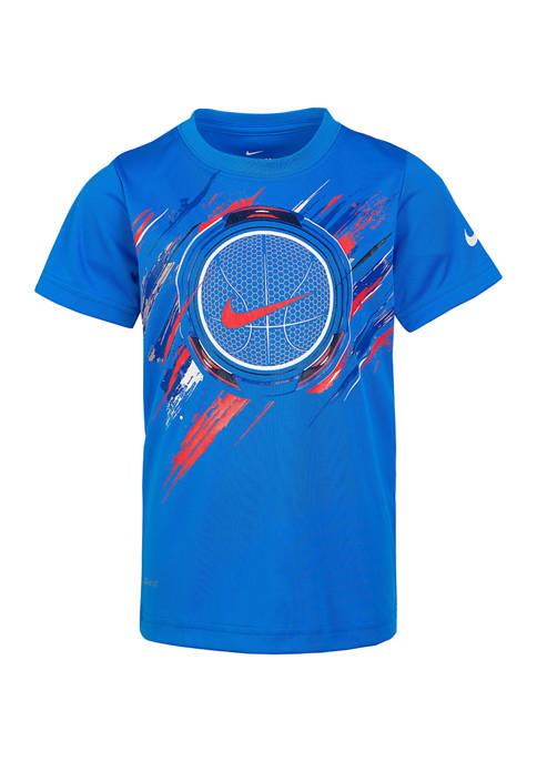 Boys 4-7 Painted Tron Basketball T-Shirt
