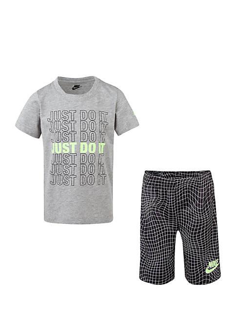 Boys 4-7 JDI Short Sleeve Tee and AOP Shorts Set