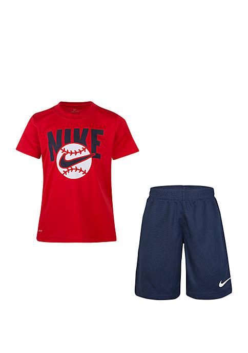 Nike® Boys 4-7 Sport Short Sleeve Tee and