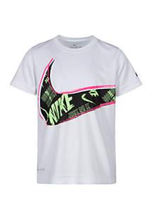Nike® Boys 4-7 Dri Fit Muddy Swoosh Short Sleeve Tee