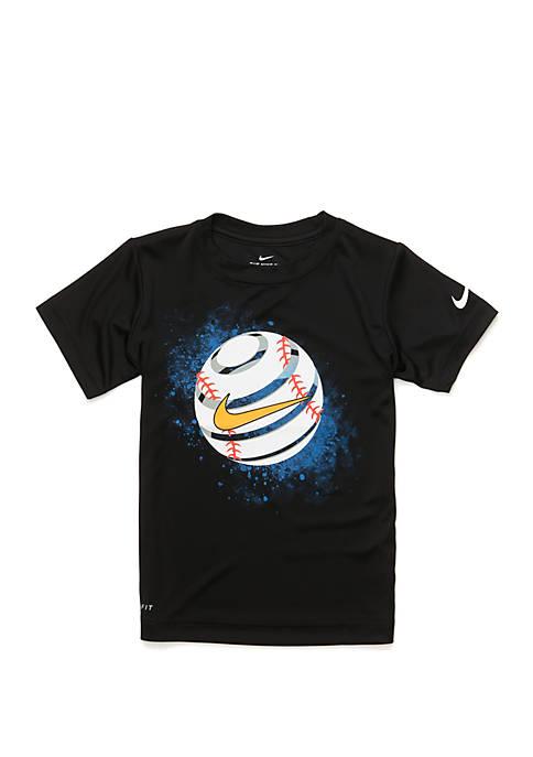 Boys 4-7 Skewed Baseball Short Sleeve T Shirt