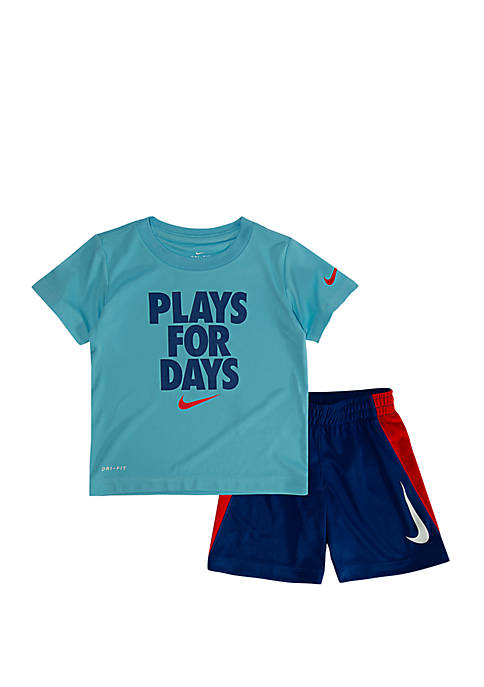 Boys 4-7 Dri-Fit Plays for Days Short Sleeve Tee and Short Set