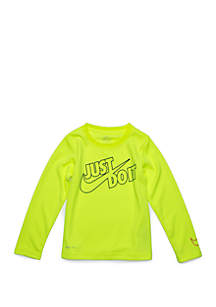 Nike® Boys 4-7 Just Do It Split Thermal T-Shirt