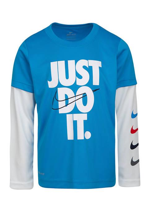 Boys 4-7 Long Sleeve 2Fer Graphic T-Shirt