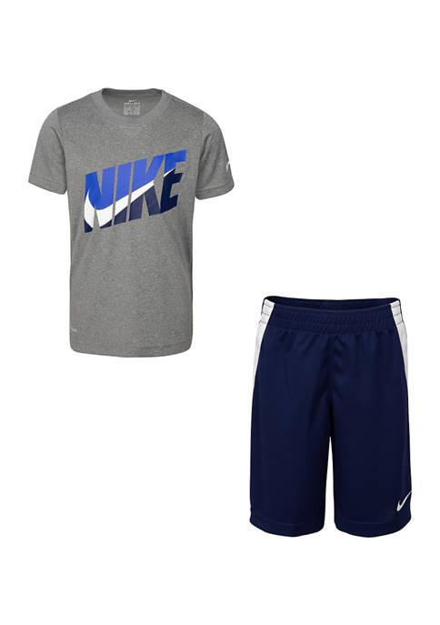 Boys 4-7 Short Sleeve Sport Short Set