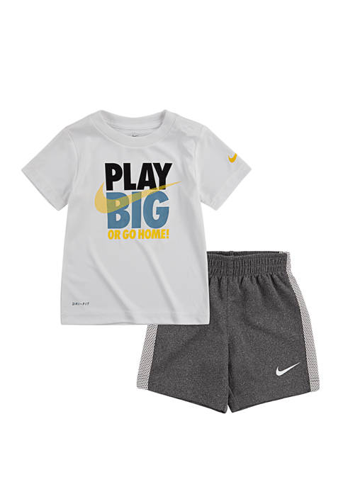 Nike® Boys 4-7 Play Big Shorts Set