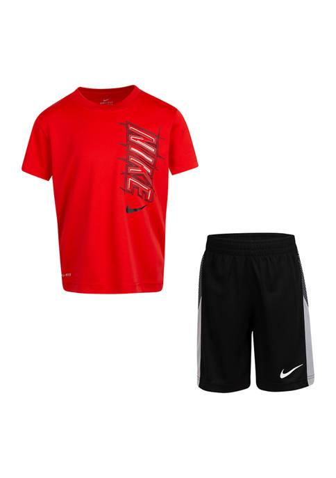 Nike® Boys 4-7 Dri-Fit Block T-Shirt and Shorts