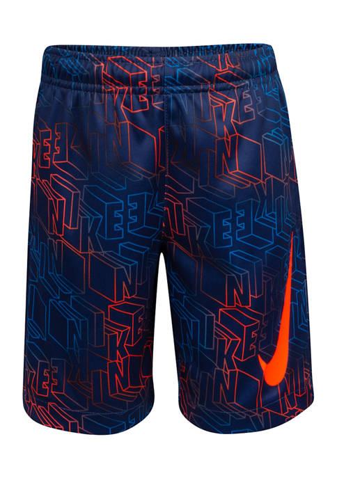 Nike® Boys 4-7 Digital Printed Logo Shorts
