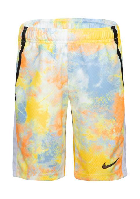 Nike® Boys 4-7 Multicolored Tie Dye Shorts