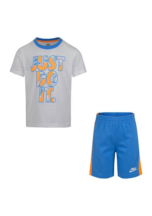Boys 4-7 Tie Pool Short Sleeve T-Shirt and Shorts Set