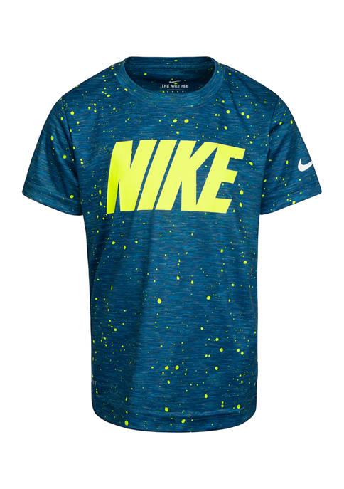 Boys 4-7 Short Sleeve Space Dye Logo T-Shirt