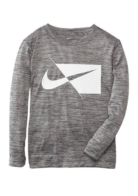 Boys 4-7 Long Sleeve Contrast Logo Graphic T-Shirt