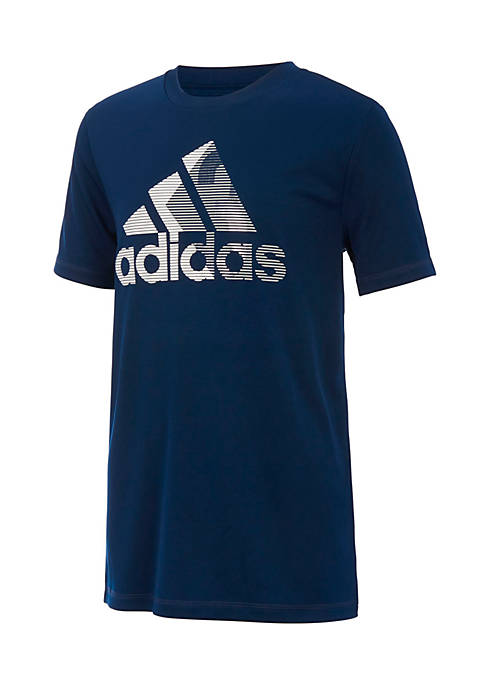 adidas Boys 8-20 Short Sleeve Climalite Badge Of