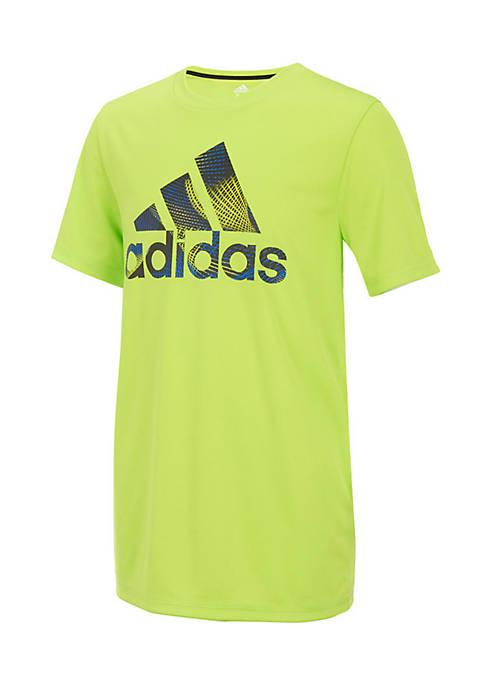 adidas Short Sleeve Climalite Pattern Fill Logo Tee
