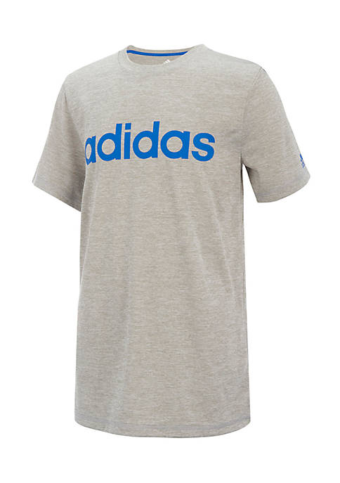 adidas Boys 8-20 Short Sleeve Climalite Linear Tee