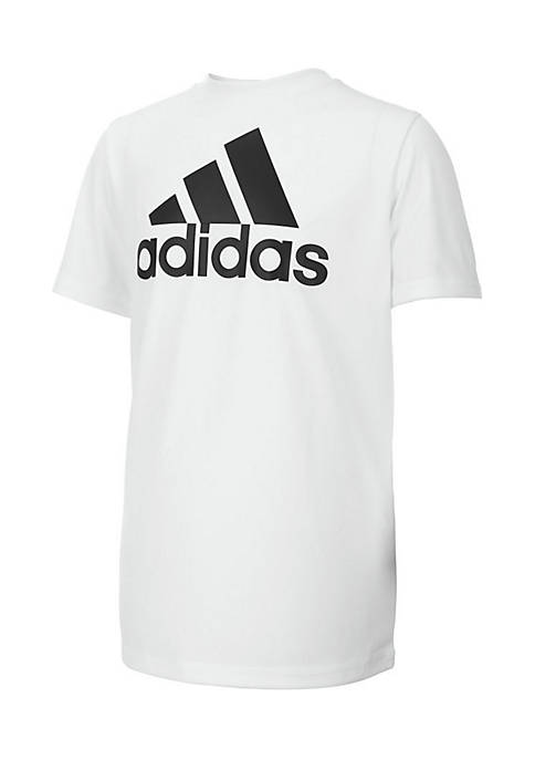 adidas Boys 8-20 Short Sleeve Climalite® Performance Logo