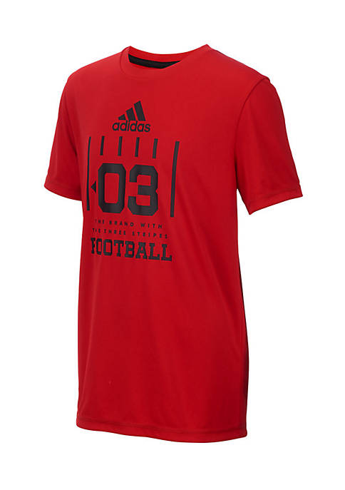 adidas Boys 8-20 Short Sleeve Climalite Game Graphic