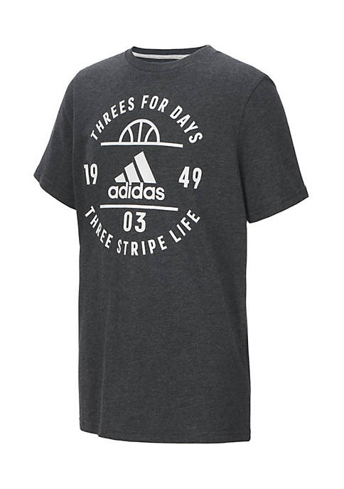 adidas Threes For Days Cotton Tee