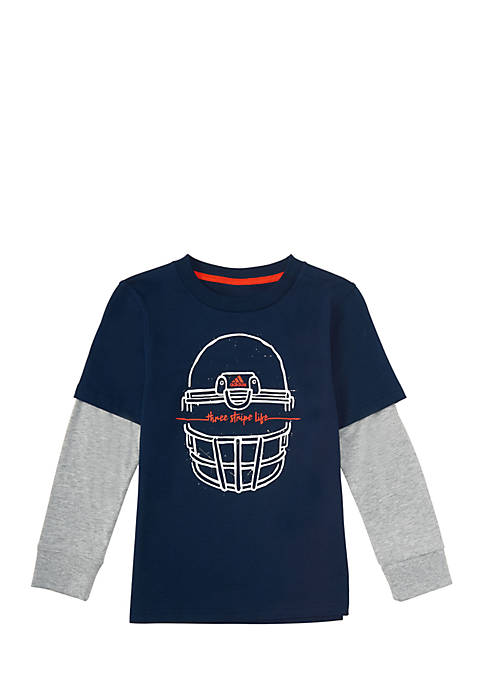 adidas Boys 2-7 Long Sleeve Helmet Tee