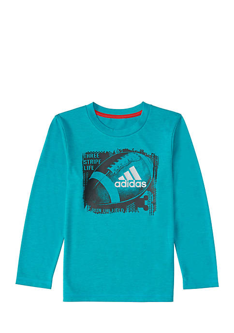 adidas Boys 2-7 Long Sleeve Climalite Sport Ball