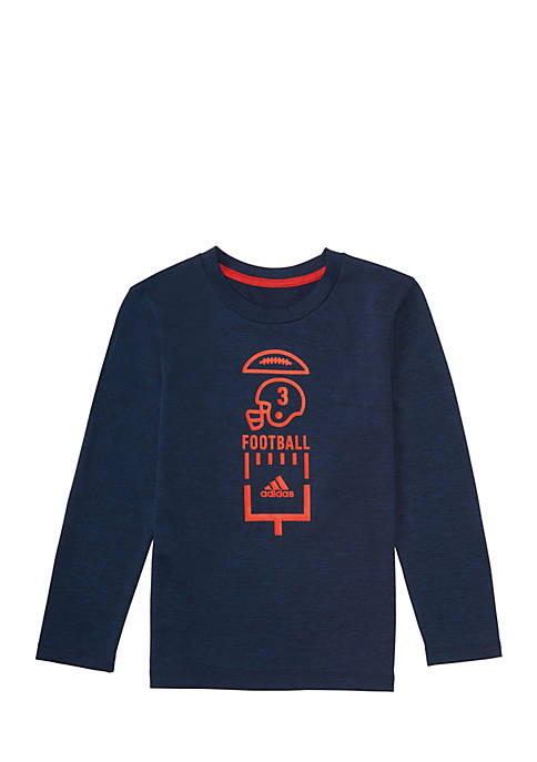 adidas Boys 2-7 Long Sleeve Vertical Ball Tee