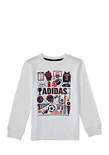 Boys 2-7 Long Sleeve Collage Doodle Tee