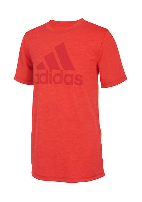 adidas Boys 8-20 Short Sleeve Climalite Graphic Tee
