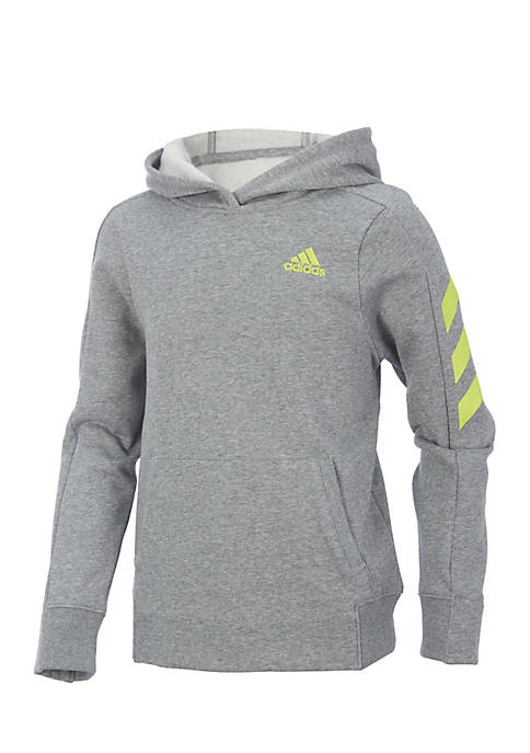 adidas Boys 8-20 Long Sleeve Heather Altitude Pullover