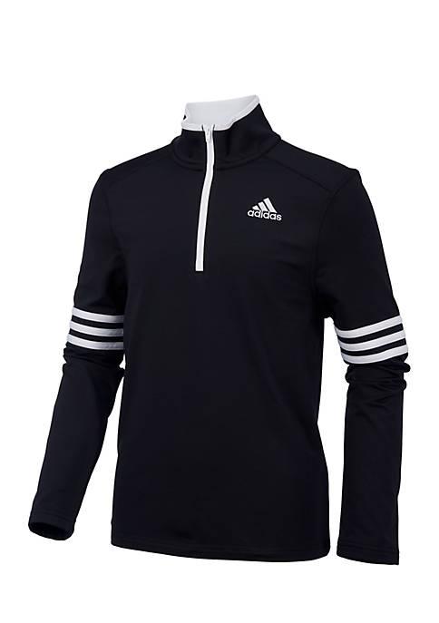 adidas Boys 8-20 Long Sleeve Pursuit Half-Zip Pullover