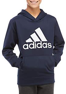 adidas Boys 8-20 Solid Fleece Hoodie