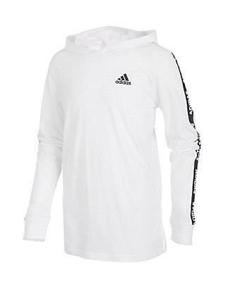 adidas Boys 8-20 Branded Long Sleeve Hoodie   belk