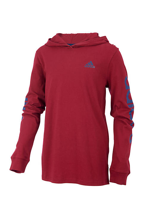 adidas Boys 4-7 Long Sleeve Branded Linear Sleeve