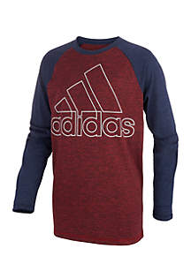 adidas Toddler Boys Long Sleeve Climalite® Raglan Performance Logo Tee