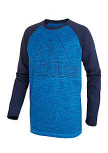 Boys 8-20 Long Sleeve Climalite® Raglan Performance Logo Tee