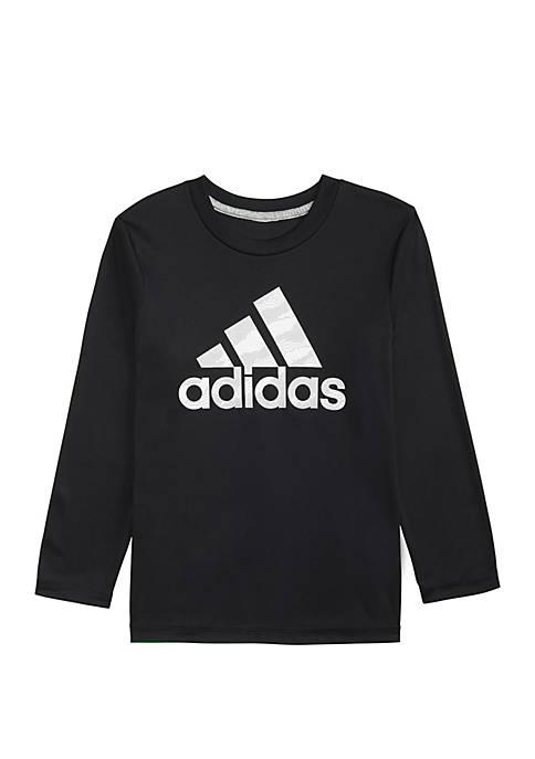 adidas Boys 8-20 Long Sleeve Dot Camo Logo