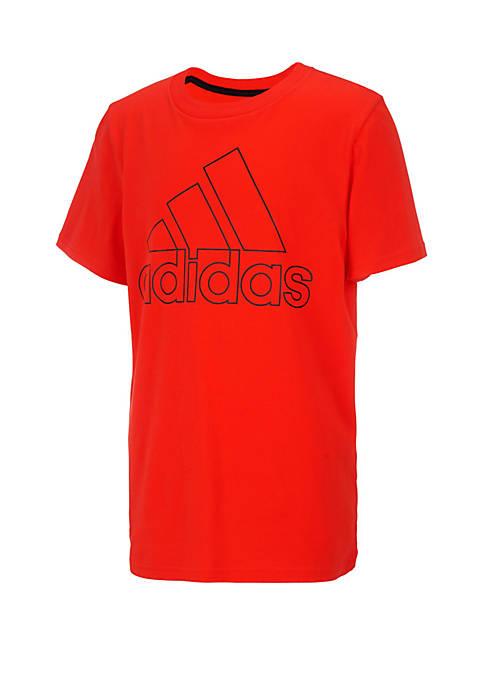 adidas Boys 8-20 Peformance Logo Tee