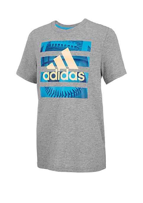 adidas Boys 2-7x Hacked Sports Tee