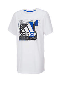adidas Boys 8-20 Short Sleeve Collage Mantra Graphic Tee
