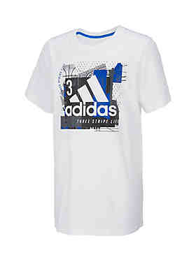 8db1a9aff4d adidas Boys 8-20 Short Sleeve Collage Mantra Graphic Tee ...