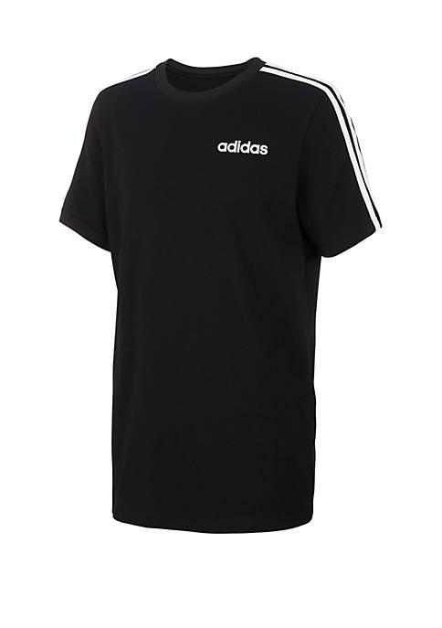 adidas Boys 2-7x Three Stripe Core Graphic Tee
