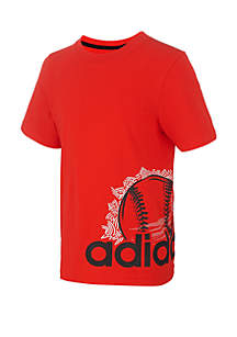 adidas Boys 2-7 Doodle Sports Ball Wrap Graphic Tee