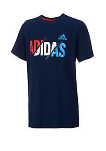 adidas Boys 4-7 Adidas Short Sleeve USA Graphic Tee