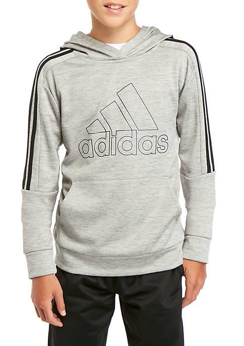 adidas Boys 8-20 3 Stripe Pullover