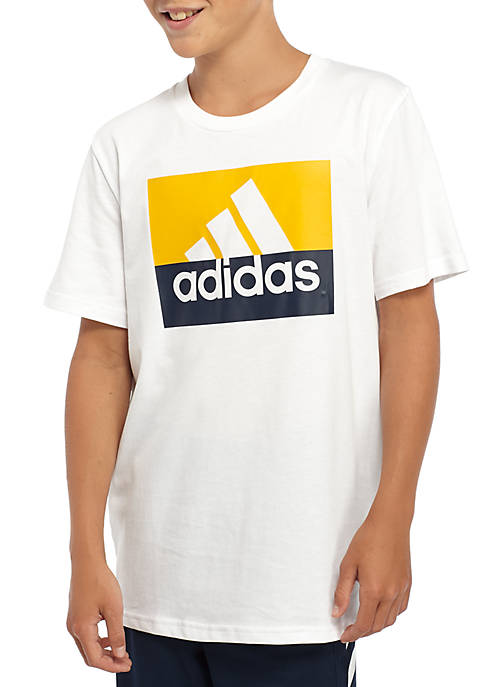 adidas Boys 8-20 Block Boss Short Sleeve T-Shirt