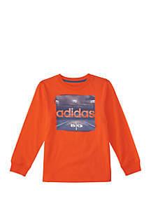 adidas Boys 4-7 Long Sleeve Night Game Tee
