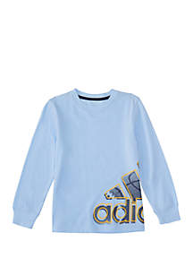 adidas Boys 4-7 Long Sleeve Wrap Tee