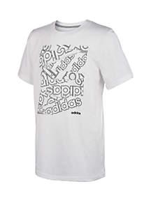adidas Boys 8-20 Box Print T Shirt