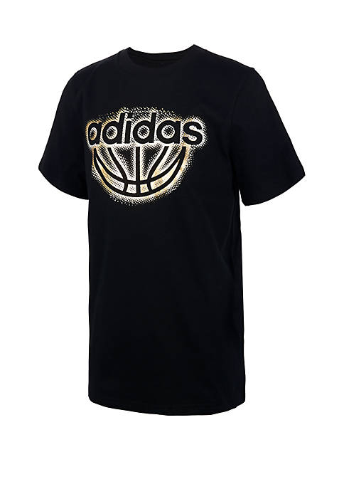 adidas Boys 8-20 Block Boss Short Sleeve T