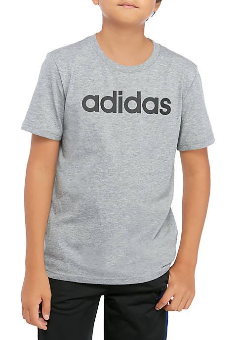 adidas Boys 8-20 Linear Logo Graphic T-Shirt