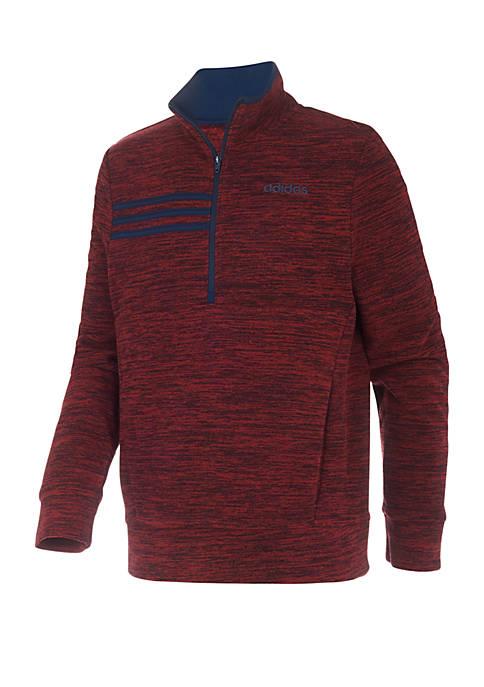 adidas Boys 8-20 Microfleece Half Zip Jacket